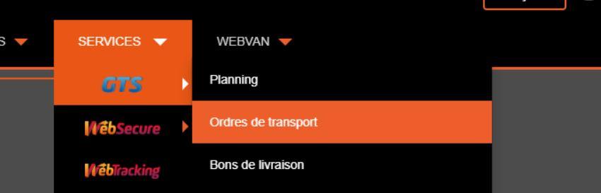 GTS-Order de transport